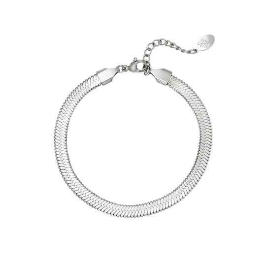 Armband flat wide | zilver