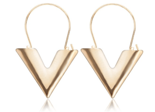 V earrings | goud
