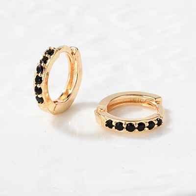 Earrings 8mm | gold black