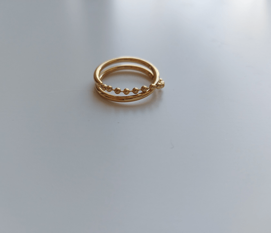 Ring loose chain | goud