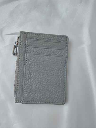 Pasjeshouder simple | grey real leather
