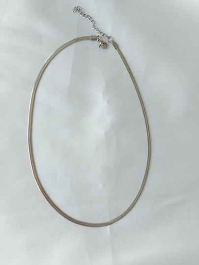 Necklace flat | zilver