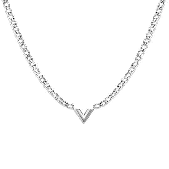 Chain necklace V | zilver