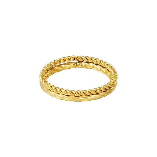 Ring double twisted   goud