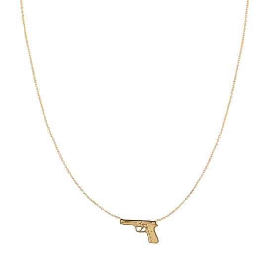 Gun necklace | goud