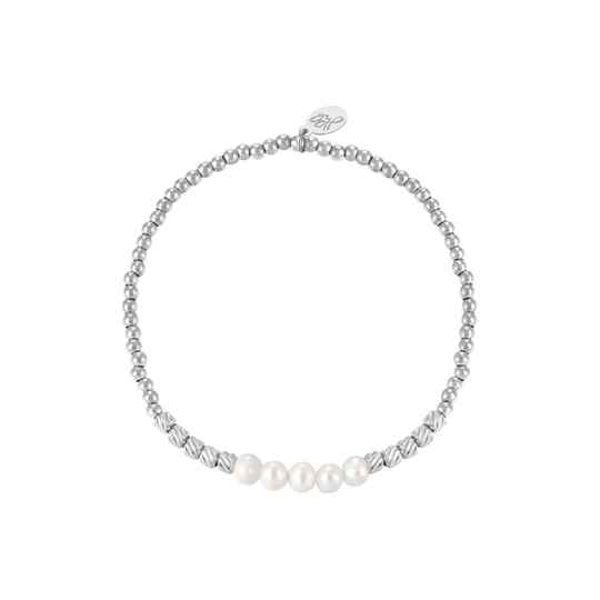Armband pearl beads | zilver