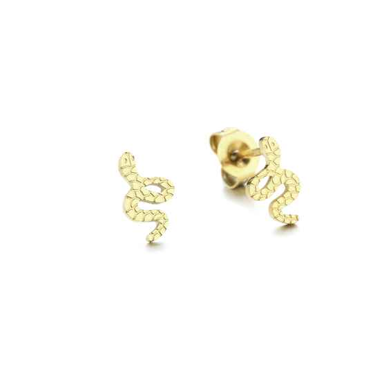 Stud earrings snake | goud