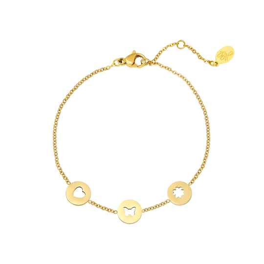 Armband three coins | goud