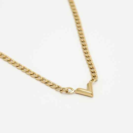 Chain necklace V | goud