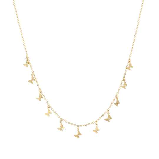 Necklace tiny butterfly | goud