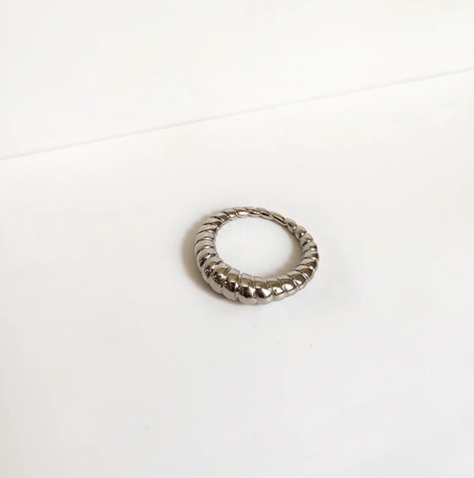 Ring ribbels | zilver