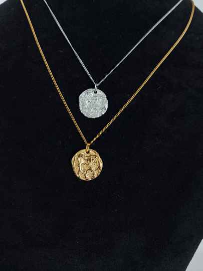 Necklace engraved round | zilver