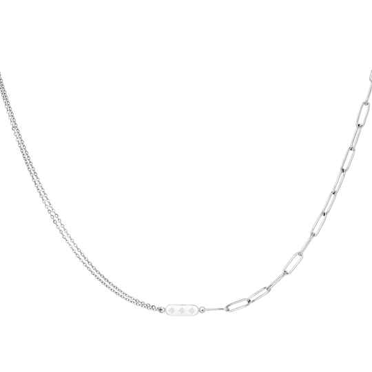 Different chain necklace charm | zilver