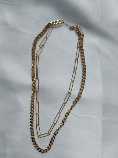 Layered chain necklace | goud