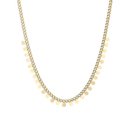 Necklace small coins | goud