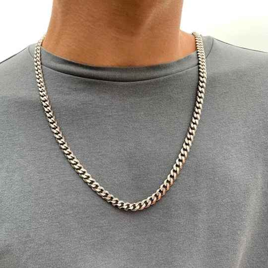 Chain necklace connected big/60cm | zilver