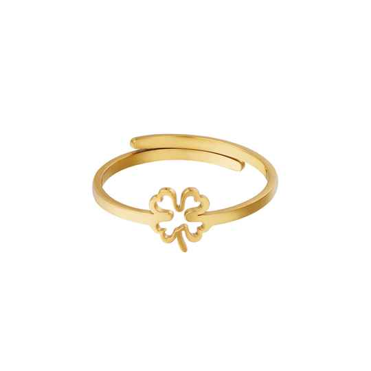 Ring lined clover   goud