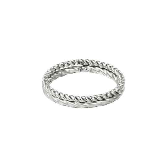 Ring double twisted   zilver