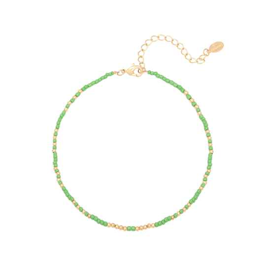 Anklet beads | green gold