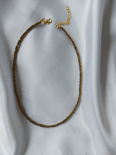 Kralenketting | bronze/gold