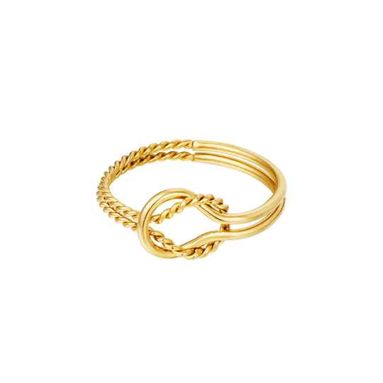 Ring knot different   goud