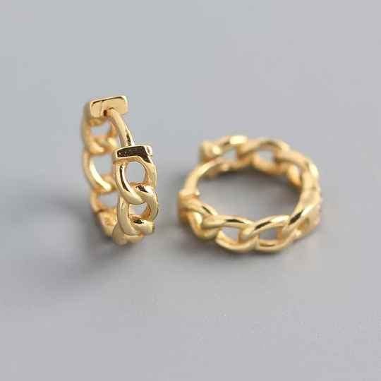Chain earrings | goud