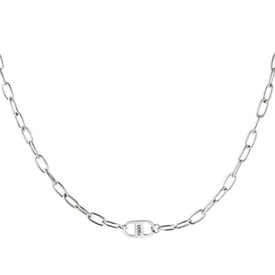Chain necklace DD simple | zilver