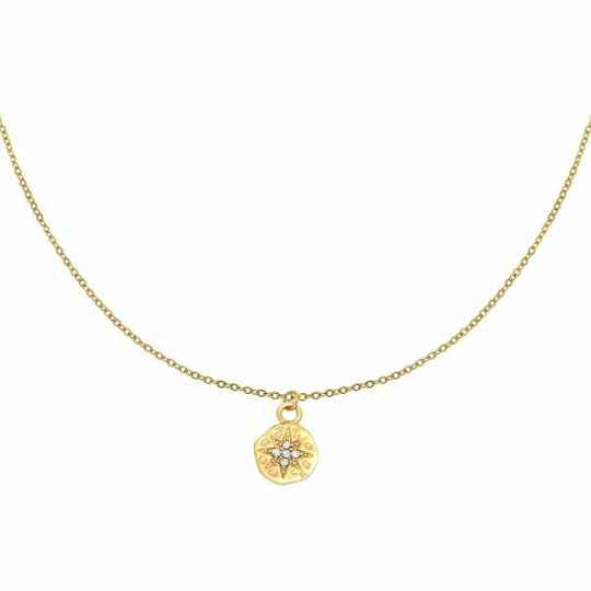 Necklace hammered star