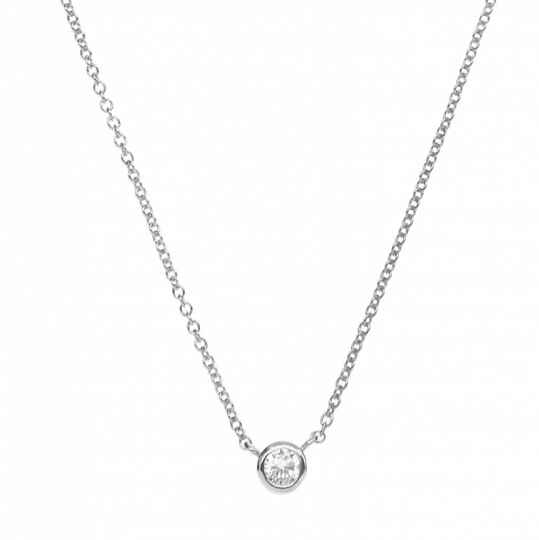 Halsketting Romee Strass Silver