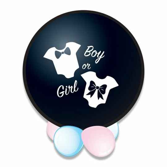 gender reveal ballon 61 cm jongen