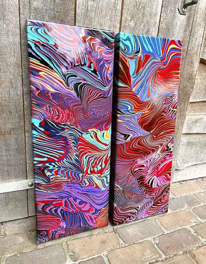 'Temporal Dimension' 2 pieces 30x80