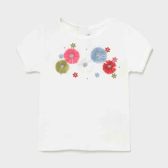 T SHIRT WIT BLOEM BRODERIE MAYORAL REF 1084