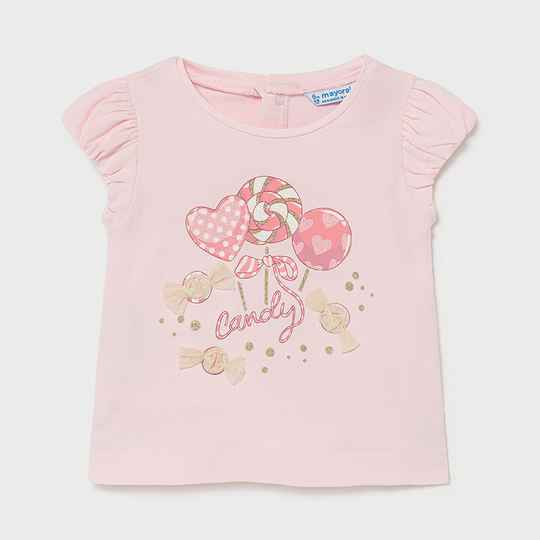 SHORTSLEEVE CANDY PINK MAYORAL REF 1081