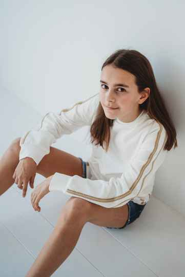 SWEATER ELSY OFF WHITE BIES SAND