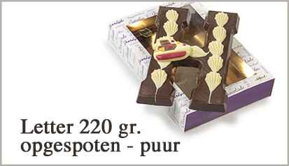 Luxe chocoladeletter puur