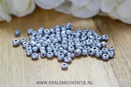 Rocailles Luxury Silver Metallic 4mm, 27 gram - RC013