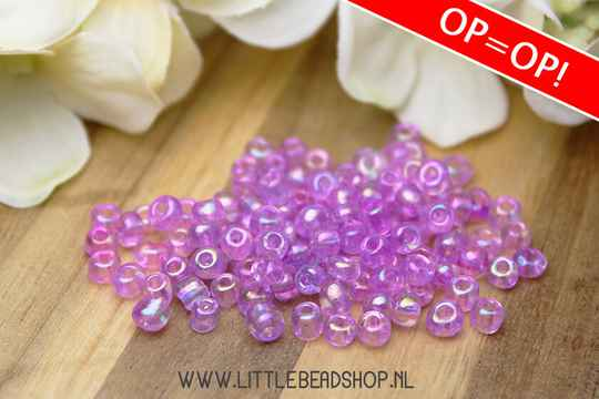 Rocailles purple transparent 4mm, 27 gram - GK079/OP003