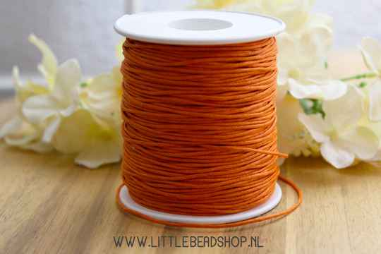 WX016 - Waxkoord dark orange 1mm, per meter