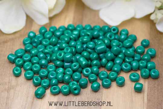 Rocailles Dark Turquoise 4mm, 27 gram - RC061