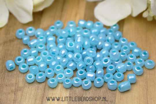 Rocailles Pale Turquoise 4mm, 27 gram - RC050