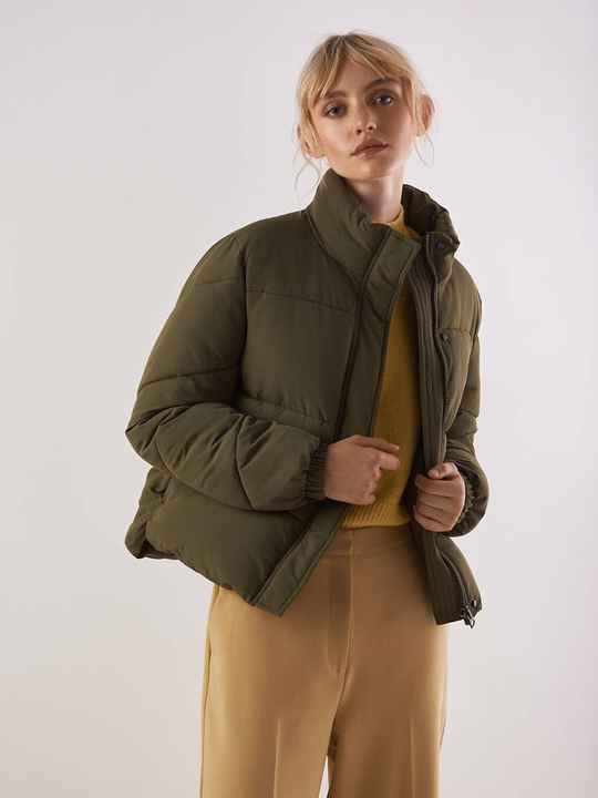 ANOTHER LABEL MILLE PUFFER COAT IVY GREEN