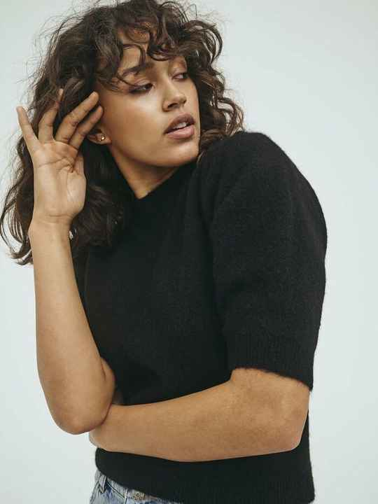 NORR NORDBY KNIT TEE BLACK