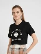 BY MALENE BIRGER NAYAH T-SHIRT BLACK