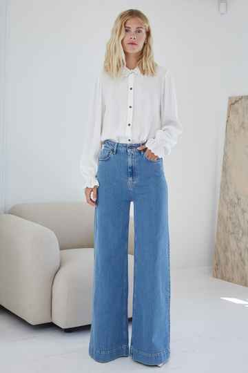 DESIGNERS REMIX BELLIS BLUE WIDE JEANS