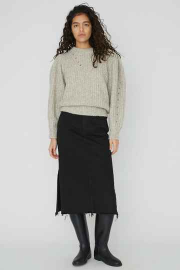 DESIGNERS REMIX BELLIS LONG SKIRT BLACK