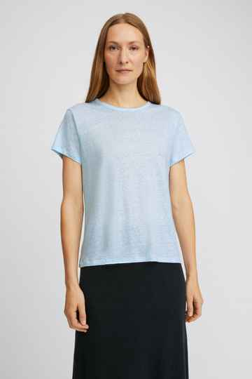 FILIPPA K HAZEL LINEN TEE WASHED BLUE