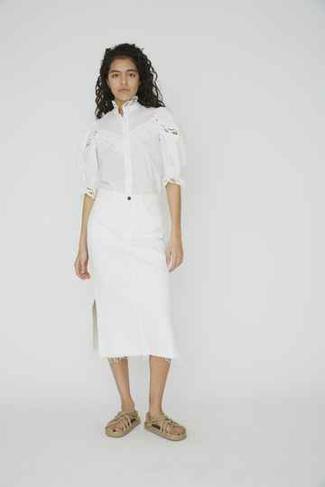 DESIGNERS REMIX BELLIS SKIRT WHITE