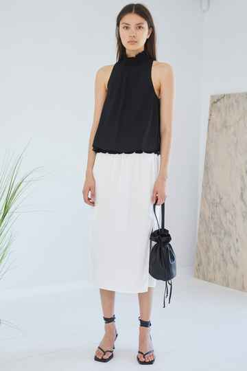 DESIGNERS REMIX VALERIE SMOCK TOP BLACK