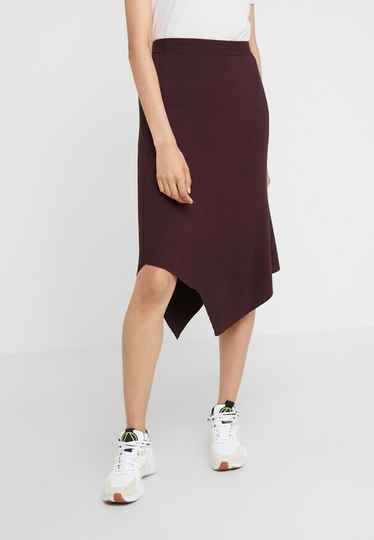 DESIGNERS REMIX ALVIN LAYER SKIRT BORDEAUX