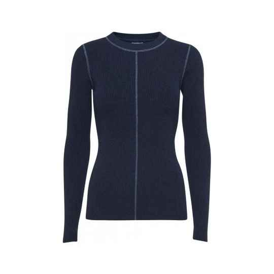 NORR CHLOE STITCH KNIT NAVY